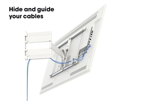THIN 545 ExtraThin Full-Motion TV Wall Mount white-cable