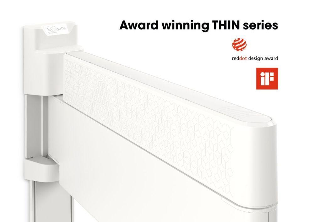 THIN 545 ExtraThin Full-Motion TV Wall Mount white design