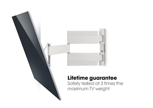 THIN 545 ExtraThin Full-Motion TV Wall Mount white guarantee