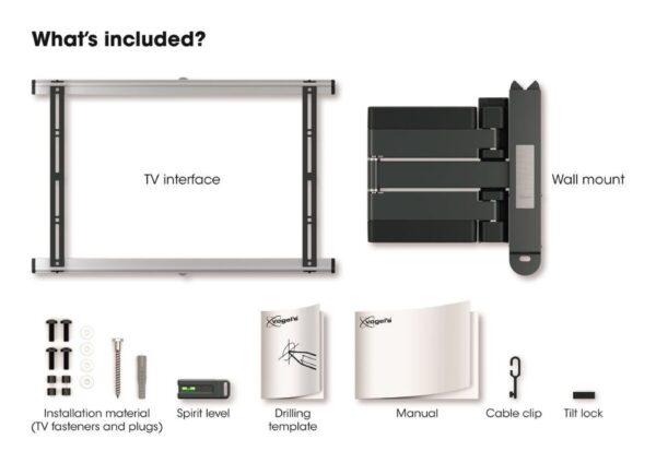 THIN 545 ExtraThin Full-Motion TV Wall Mount white inside