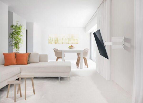 THIN 545 ExtraThin Full-Motion TV Wall Mount white room