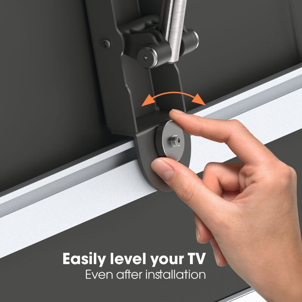 Vogel's THIN 445 ExtraThin Full-Motion TV Wall Mount level-after-install