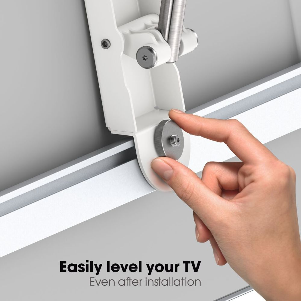 Vogel's THIN 445 ExtraThin Full-Motion TV Wall Mount (white) level-after-install