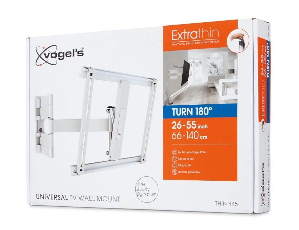 Vogel's THIN 445 ExtraThin Full-Motion TV Wall Mount (white) pack