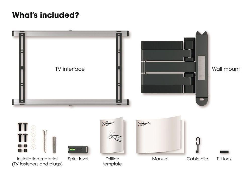 Vogel's THIN 545 ExtraThin Full-Motion TV Wall Mount insidethebox