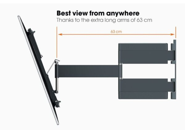 Vogel's THIN 545 ExtraThin Full-Motion TV Wall Mount view