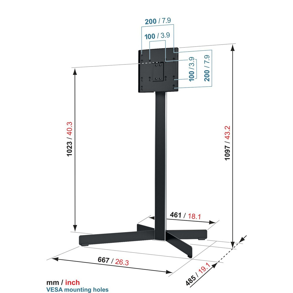 EFF 8230 TV Floor Stand