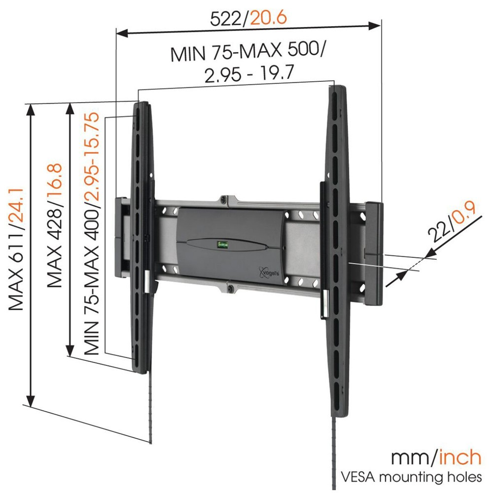EFW 8206 Fixed TV Wall Mount