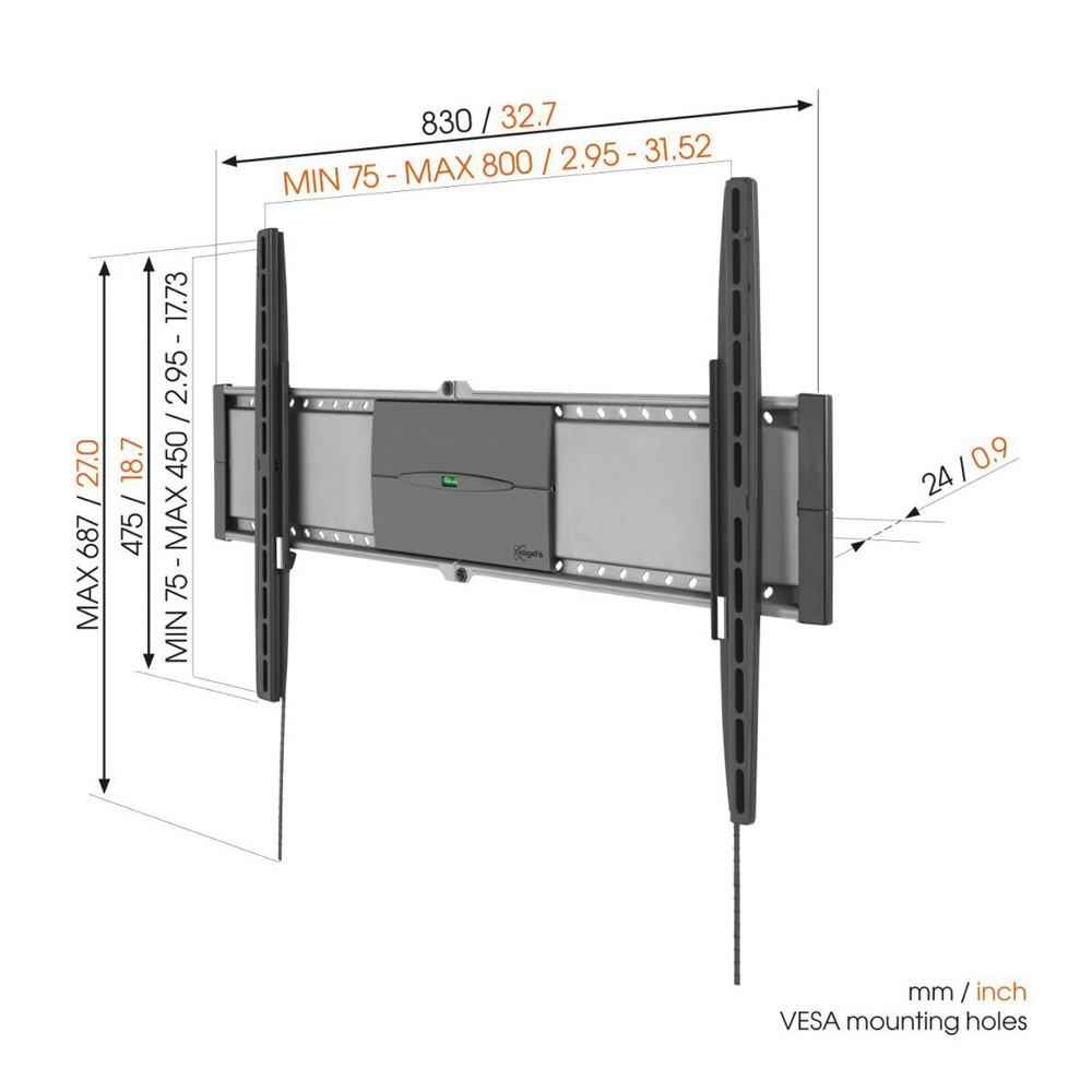 EFW 8305 Fixed TV Wall Mount