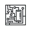 70V/100V line transformer