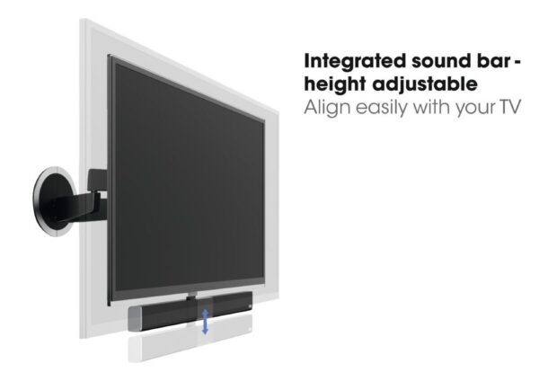MotionSoundMount NEXT 8375 Full-Motion Motorised TV Wall Mount with Integrated Sound