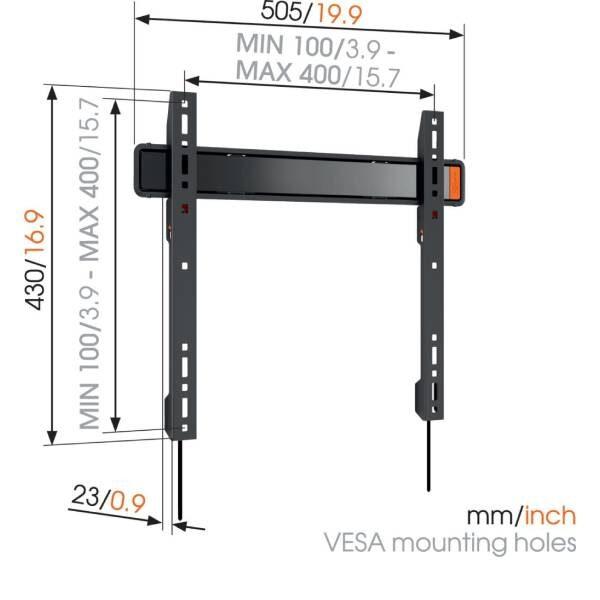 W50070 Σταθερή βάση τοίχου τηλεόρασης3