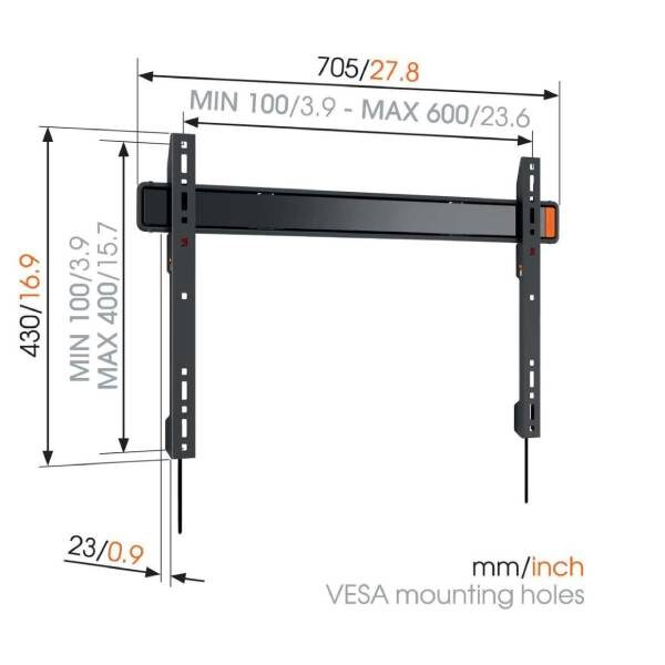 W50080 Σταθερή βάση τοίχου τηλεόρασης3