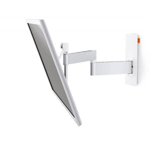 W53071 Άσπρη Βάση Τοίχου Τηλεόρασης Πλήρους κίνησης1