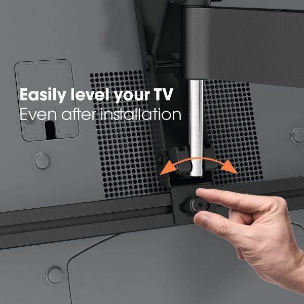 W53071 Άσπρη Βάση Τοίχου Τηλεόρασης Πλήρους κίνησης5