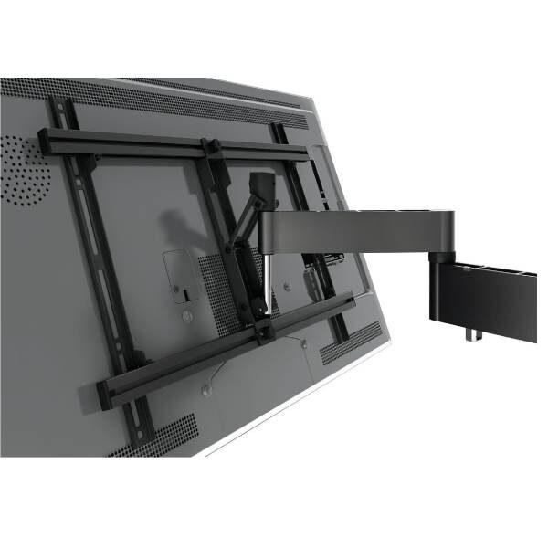 W53080 Μαύρη Βάση Τοίχου Τηλεόρασης Πλήρους κίνησης2