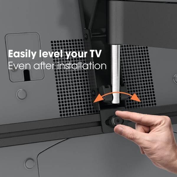 W53080 Μαύρη Βάση Τοίχου Τηλεόρασης Πλήρους κίνησης3