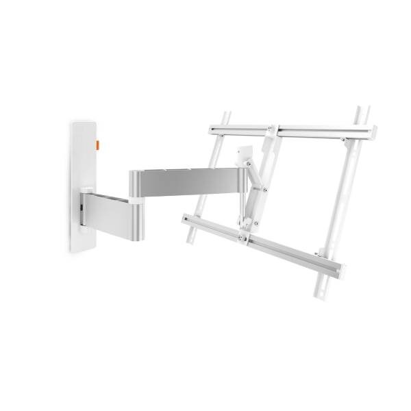 W53081 Άσπρη Βάση Τοίχου Τηλεόρασης Πλήρους κίνησης