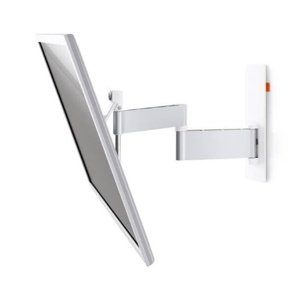 W53081 Άσπρη Βάση Τοίχου Τηλεόρασης Πλήρους κίνησης 1
