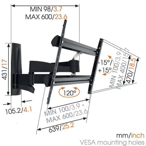 WALL 3350 Βάση τοίχου τηλεόρασης Πλήρους Κίνηση6
