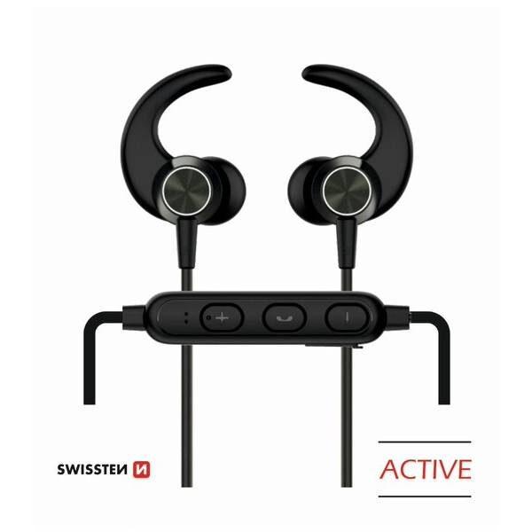 BLUETOOTH EARPHONES SWISSTEN ACTIVE BLACK
