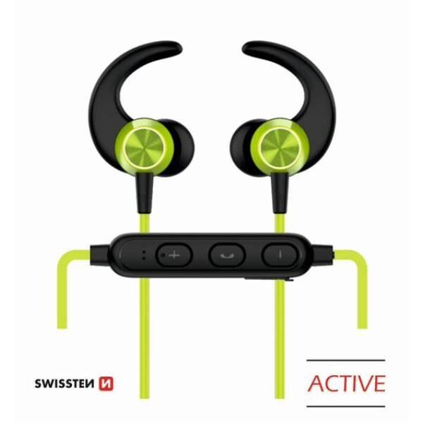 BLUETOOTH EARPHONES SWISSTEN ACTIVE LIME