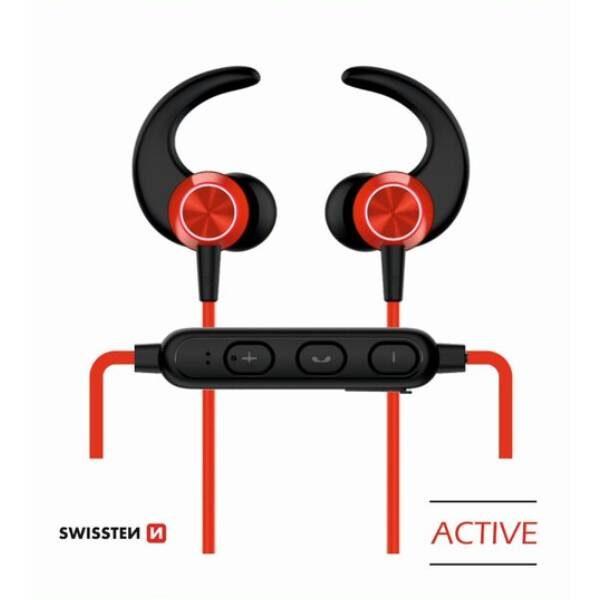 BLUETOOTH EARPHONES SWISSTEN ACTIVE RED