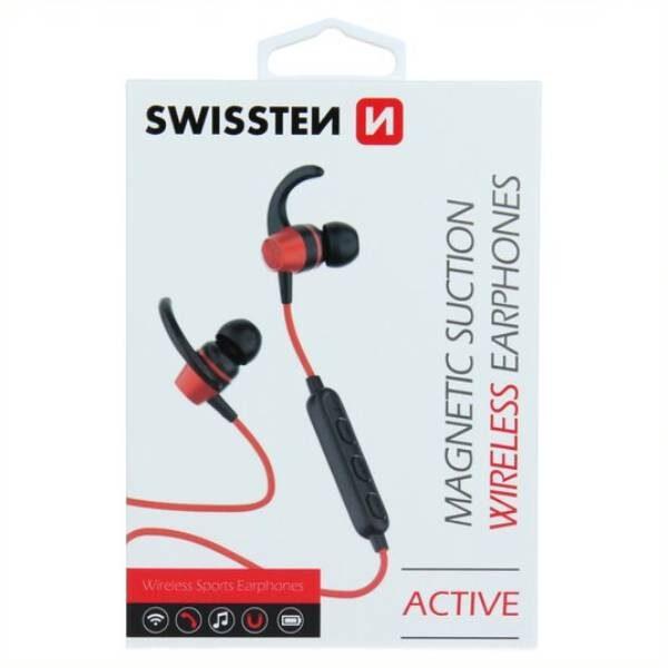 BLUETOOTH EARPHONES SWISSTEN ACTIVE RED3