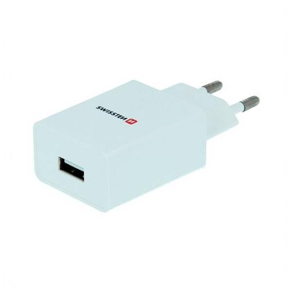 SWISSTEN ΔΙΚΤΥΟ ADAPTER SMART IC 1x USB 1A POWER WHITE
