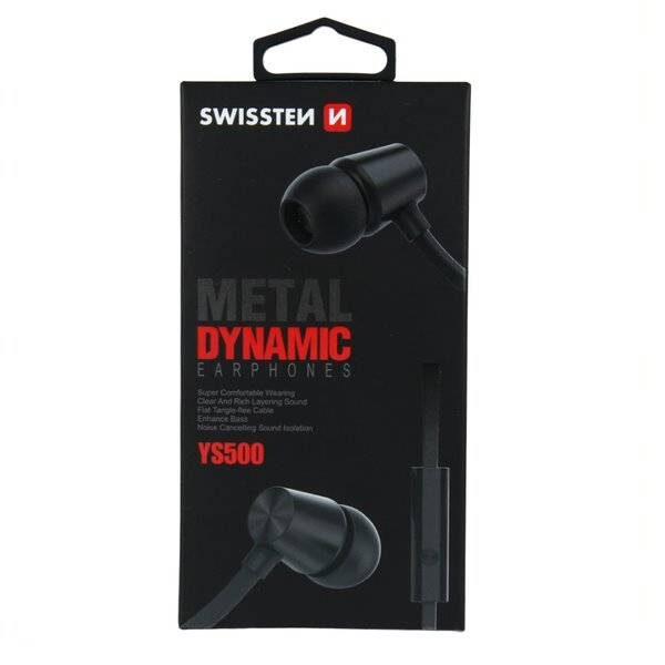 SWISSTEN EARBUDS DYNAMIC YS500 BLACK3