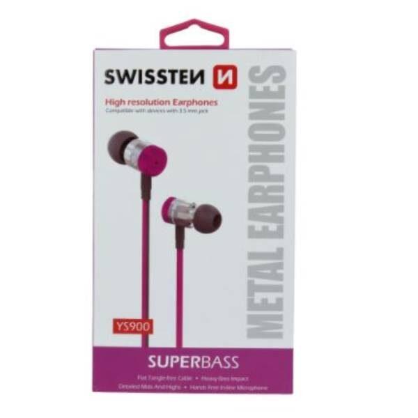 Swissten Ακουστικά Superbass YS900 - pink2