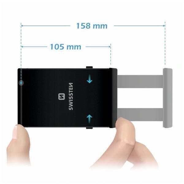 Swissten S-GRIP T1-CD1 θήκη αυτοκινήτου για Tablet4
