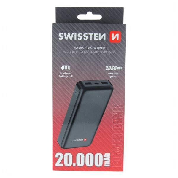 Swissten Worx Power Bank 20000 mAh2
