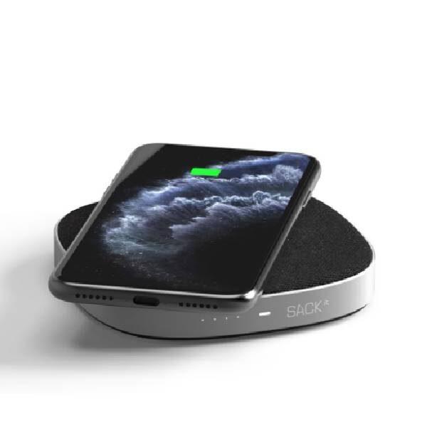 CHARGEit Care powerbank και ασύρματος φορτιστής Qi - Μαύρο3