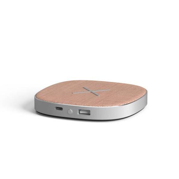 CHARGEit Care powerbank και ασύρματος φορτιστής Qi - Rose4