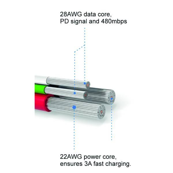 Swissten Καλώδιο Δεδομένων Textile USB MICRO USB 1.2m2