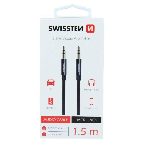 Swissten Καλώδιο ήχου TEXTILE 3,5 mm JACK