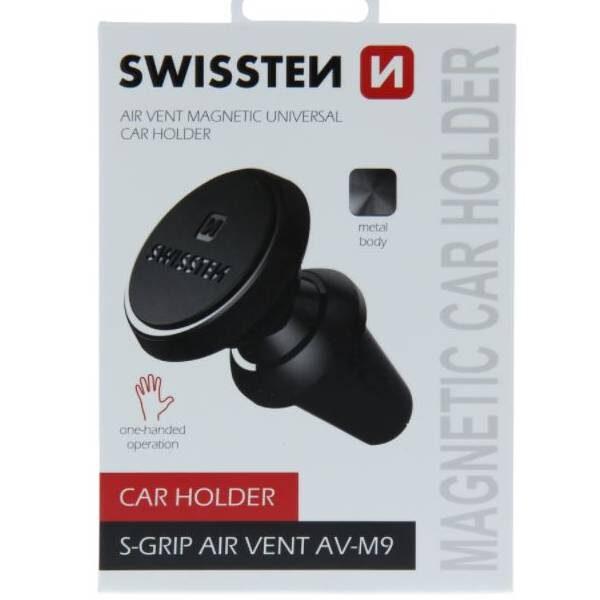 Swissten Μαγνητική Βάση Αυτοκινήτου S-GRIP AIR VENT AV-M9 μαύρη
