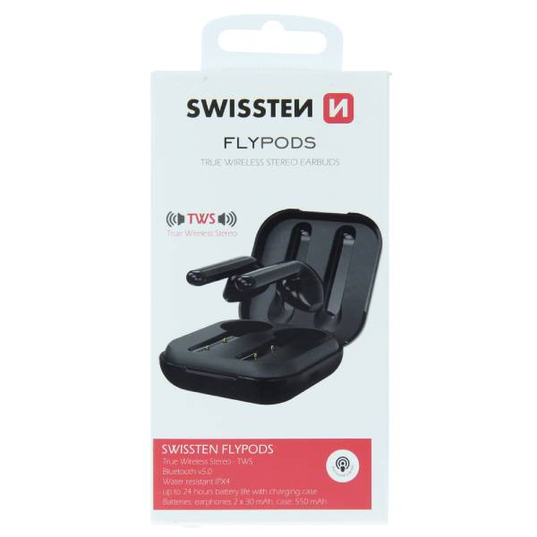 Swissten TWS Bluetooth Ακουστικά Flypods Μαύρα3