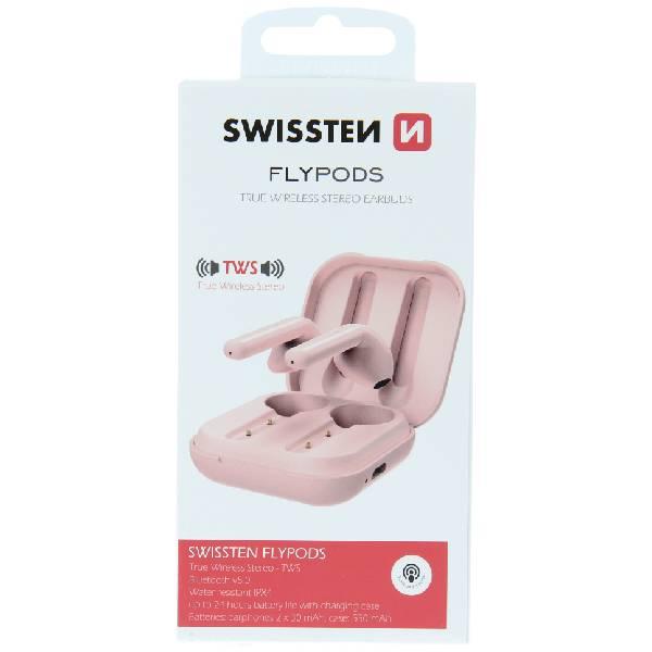 Swissten TWS Bluetooth Ακουστικά Flypods Ροζδ