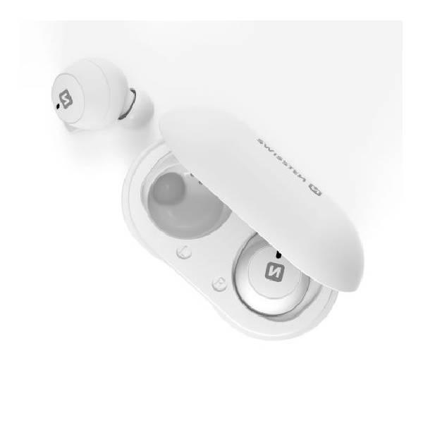 Swissten TWS Bluetooth Ακουστικά Stonebuds Άσπρα1