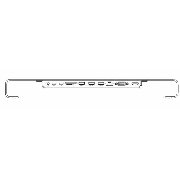 Swissten USB-C HUB DOCK Αλουμινίου1
