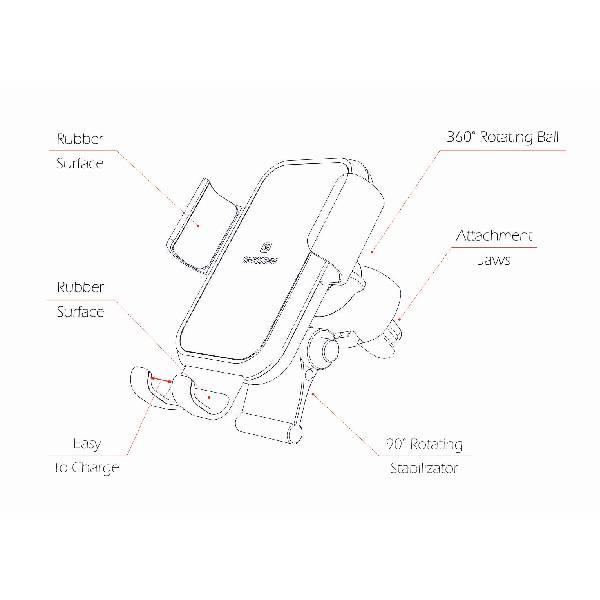 Gravity Swissten βάση αυτοκινήτου εξαερισμού S-GRIP G2-AV4-ζ