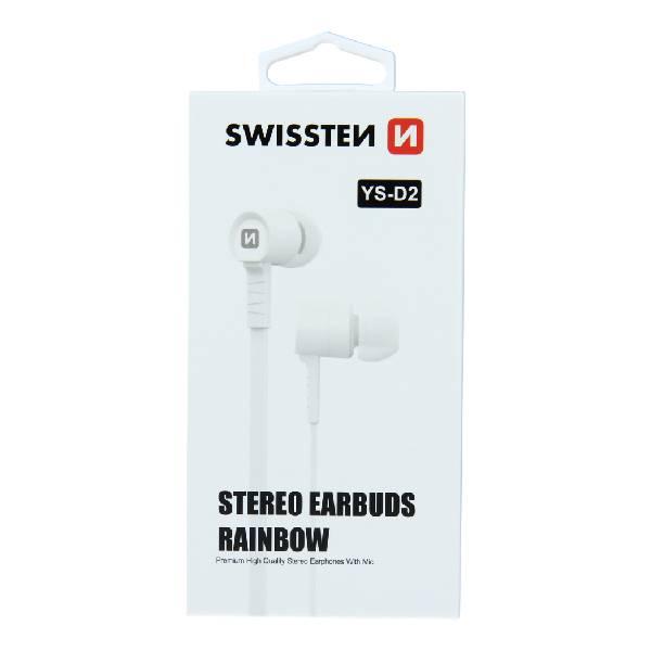 Swissten Ακουστικά Rainbow YS-D2 - Λευκά-1