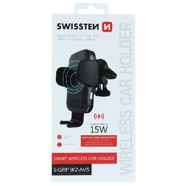 Swissten Βάση Αυτοκινήτου με ασύρματο φορτιστή S-GRIP W2-AV5