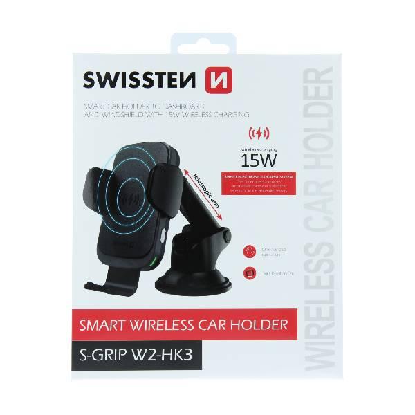 Swissten Βάση Αυτοκινήτου με ασύρματο φορτιστή S-GRIP W2-HK3