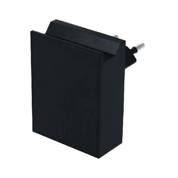 Swissten Φορτιστής Ταξιδιού Smart IC με 2x USB ισχύος 3A + Καλώδιο Δεδομένων USB- MICRO USB 1.2m Μαύρο-2