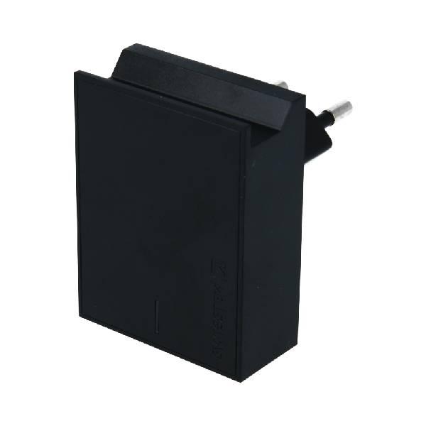 Swissten Φορτιστής Ταξιδιού Smart IC με 2x USB ισχύος 3A + Καλώδιο Δεδομένων USB- TYPE C 1.2m Μαύρος-2