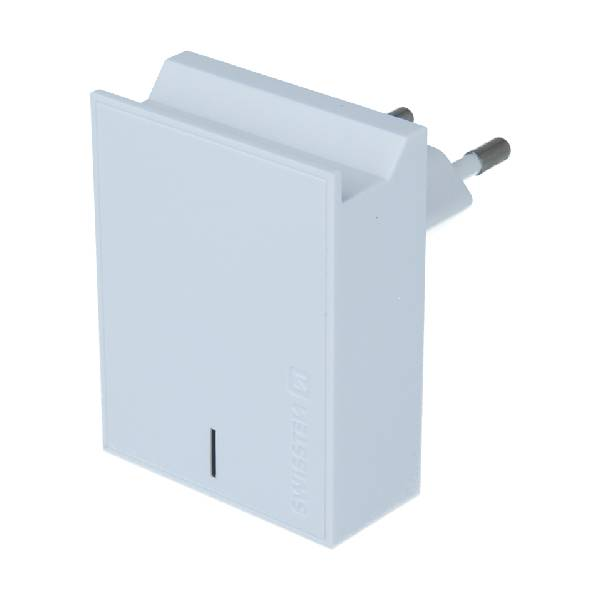 Swissten Φορτιστής Ταξιδιού Smart IC με 2x USB ισχύος 3A + Καλώδιο Δεδομένων USBLightning 1.2m Λευκό-1