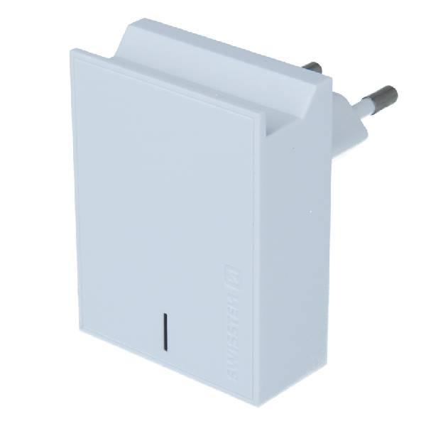 Swissten Φορτιστής Ταξιδιού Smart IC με 2x USB ισχύος 3A + Καλώδιο Δεδομένων USBLightning MFi 1.2m Λευκό-1